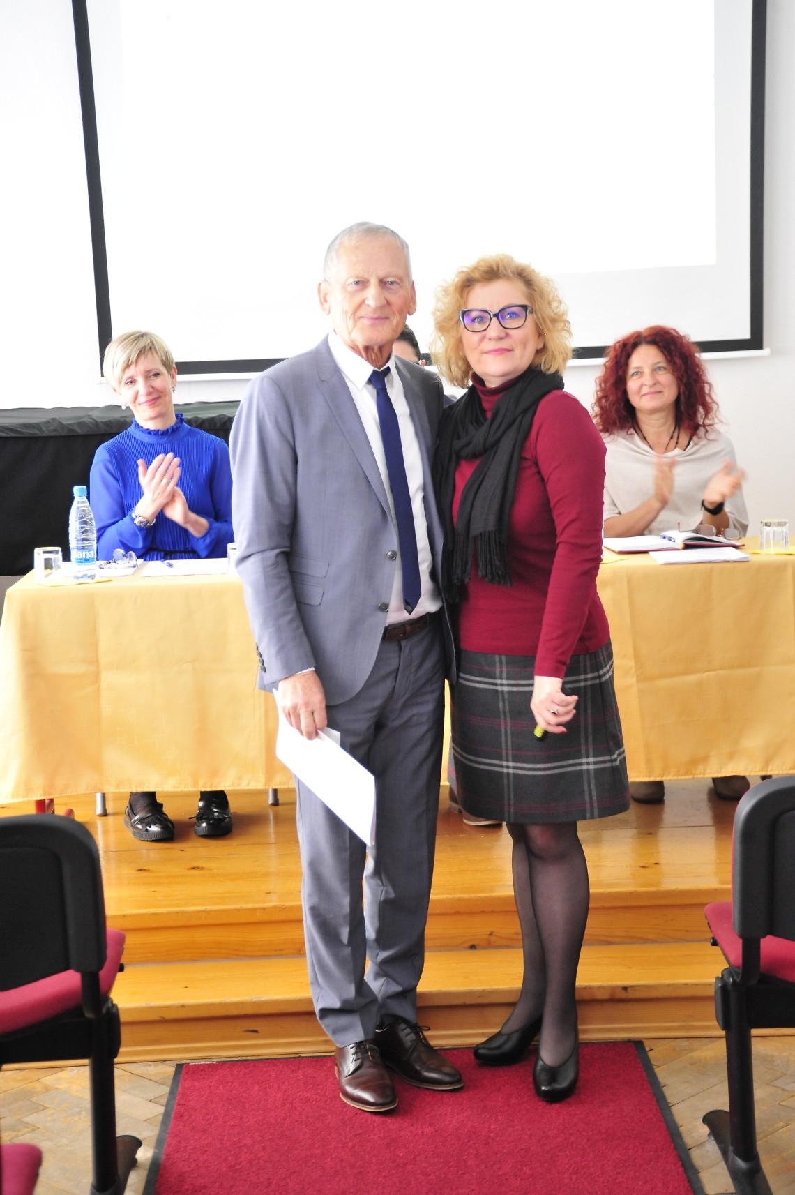 Anton Savnik, častni član ZSGŠ in Helena Meško, predsednica ZSGŠ